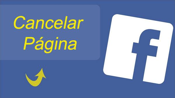 Como cancelar página no Facebook
